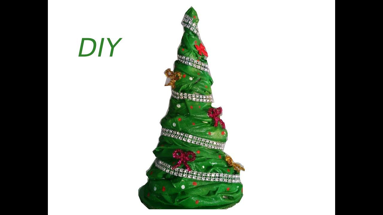 rbol navideo de tela diy christmas tree made with fabric youtube - Arbol De Navidad De Tela