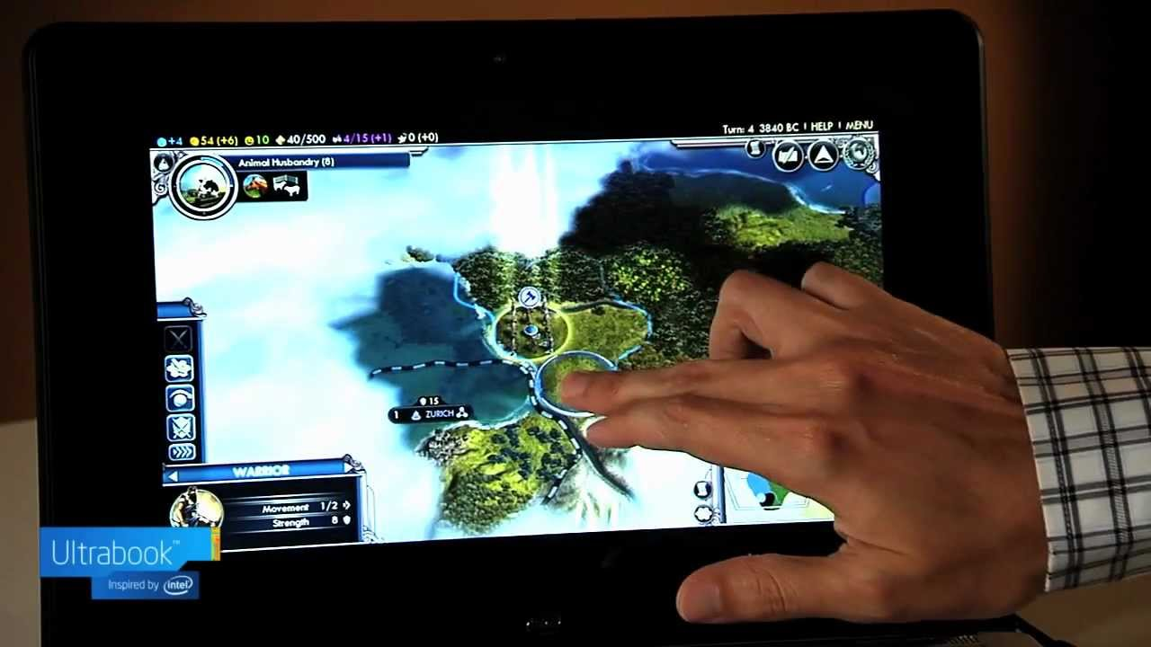 See how Civilization V works with touch controls on Windows