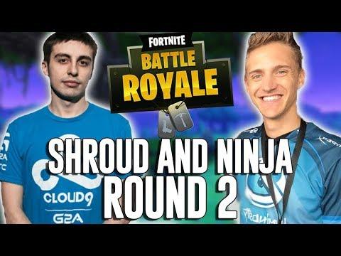 Ninja and Shroud Duos ROUND 2 - Fortnite Battle Royale Gameplay