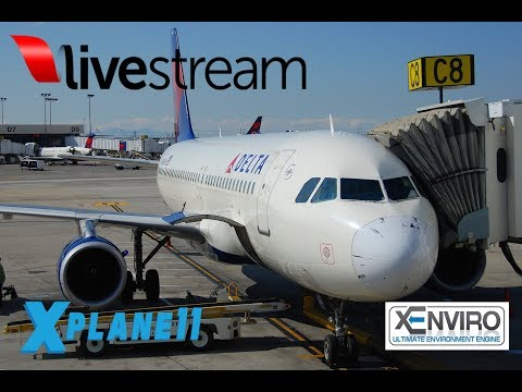 X-Plane 11 | NEW FF A320  | VATSIM |  KPHX-KABQ-KASE-KSLC-KJAC-KPDX
