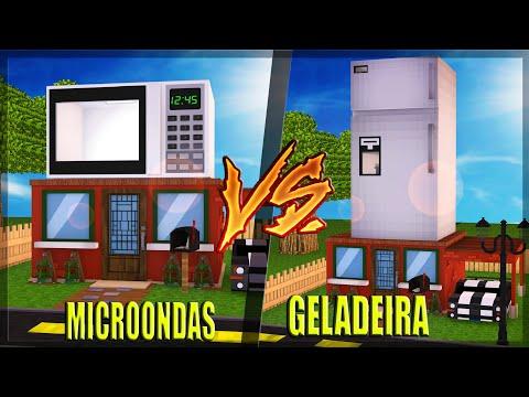 CASA DE GELADEIRA VS CASA DE MICROONDAS no MINECRAFT