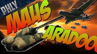 War Thunder Tanks Gameplay - MAUS & ARADO - German ELITE COMBO