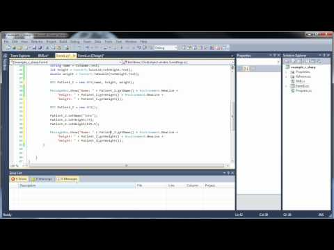 C#.Net Tutorial 17-2 - Classes and Object-Oriented Programming (Part 2)