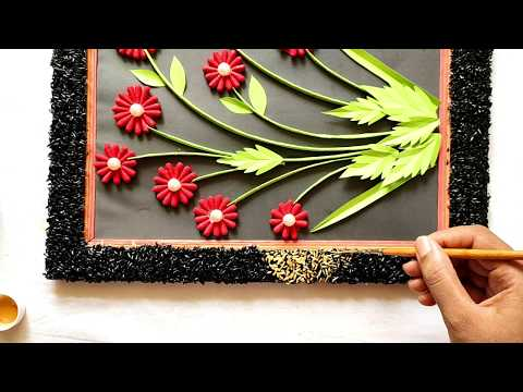 Craft idea using cotton buds/paper craft wall mate 2019/কাগজের ওয়ালমেট