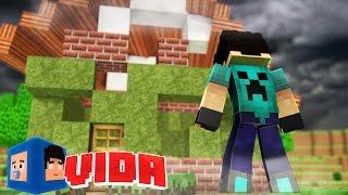 Minecraft : FuracÃo Destruiu Nossa Casa !!! #123 Minecraft Vida