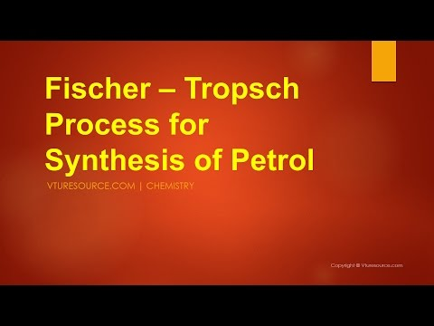 Fischer Tropsch Process | Synthesis Of Petrol
