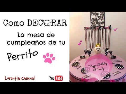 Como decorar la mesa de cumpleaños para tu Perro