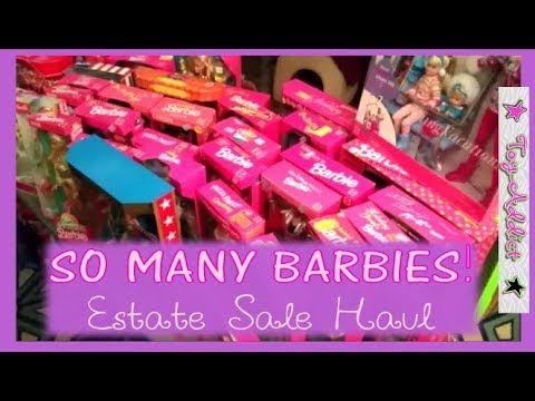 HUGE Barbie Estate Sale Haul ~ Dolls Galore 80's & 90's ~ Toy-Addict