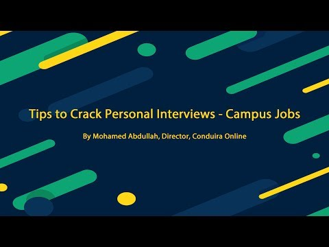Tips to Crack Personal Interviews | Campus Jobs - Part 1