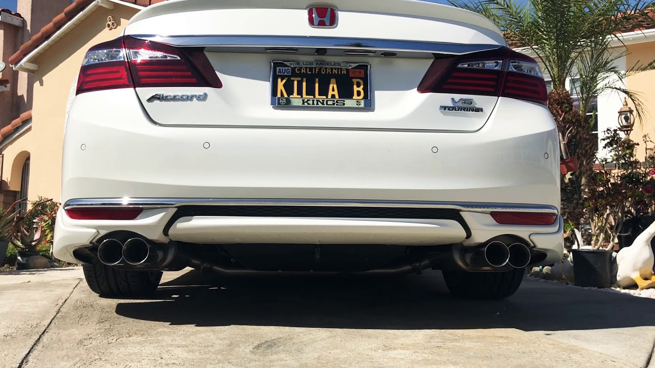 "9th Gen Accord >> ATLP V2-R Quad-Tip 3"" Performance Exhaust Resonated 2013"