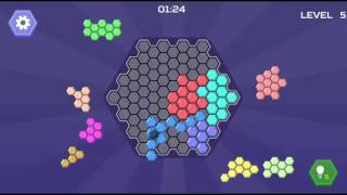 HEX BLOCKS PUZZLE - ADVANCE TO BIG BOARD LEVEL 1-8