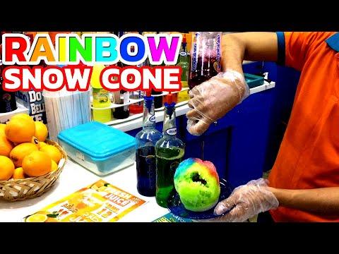 Snow Cone | Colorful Rainbow Ice Cream in Dubai - Ice Gola / Snow Halva