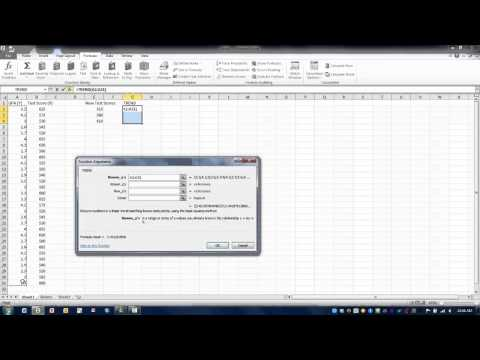 How To Use Excel-The TREND Function