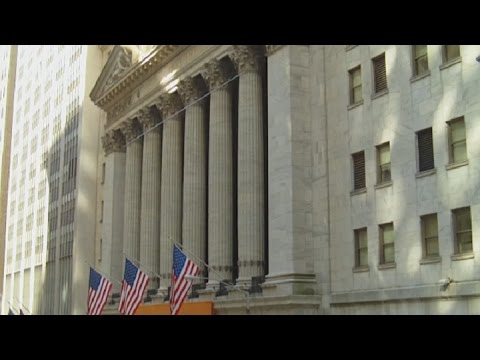 Wall Street, Broad St, NY Stock Exchange and Federal Hall Area of NYC