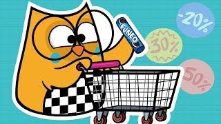 Bubu in the Supermarket - Bubu FUN - Bubu and the Little Owls