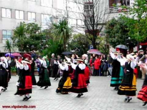 Muiñeira, Fiesta de Reconquista. Plaza Independencia de Vigo 2011