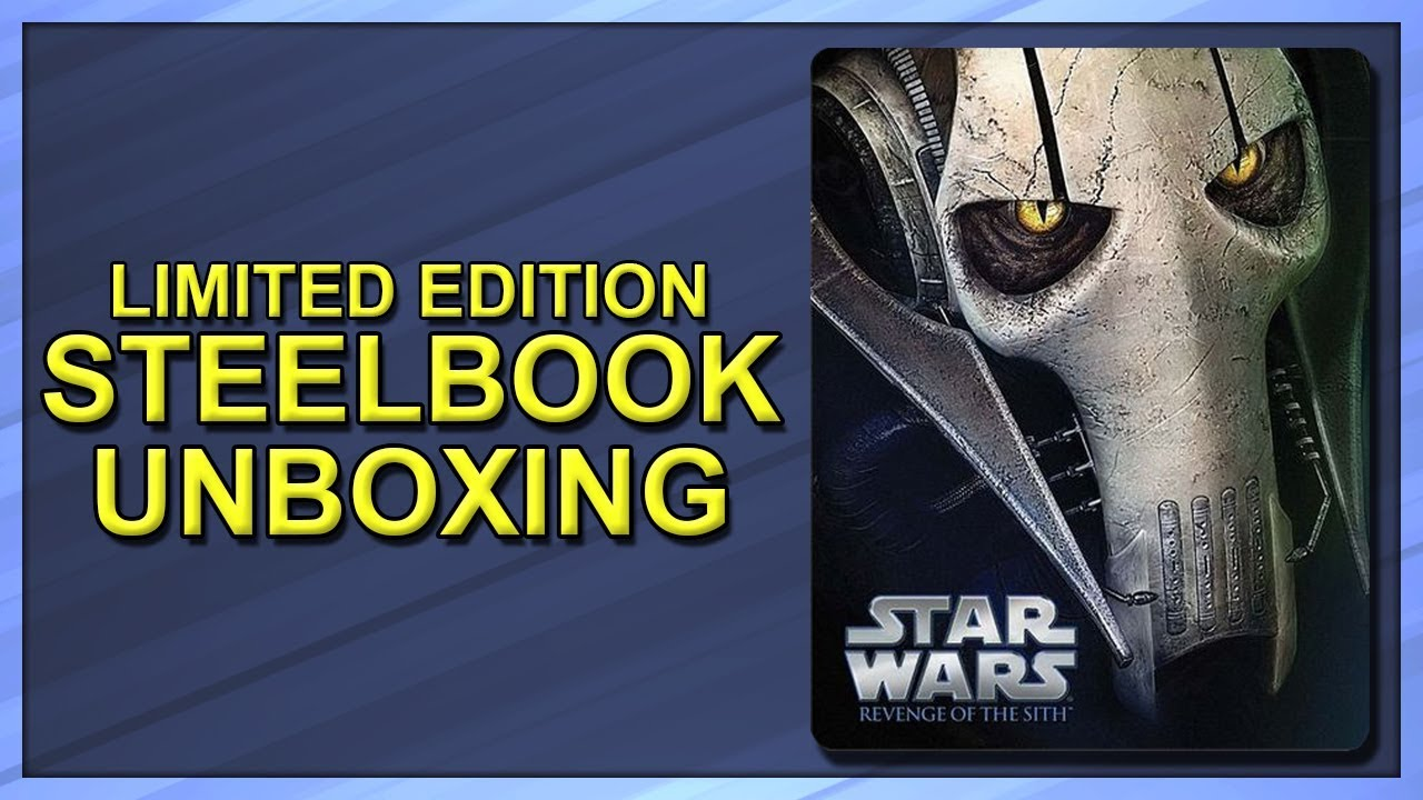 Download Star Wars: Episode III - Revenge of the Sith Limited Edition Blu-ray SteelBook Unboxing
