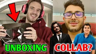 PewDiePie Unboxing- 100 Million Red Diamond Play Button| CarryMinati, BB & Ashish Chanchlani Collab?