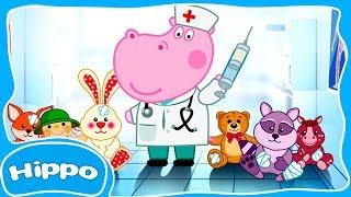 Гиппо 🌼 Ветклиника. Врач для куклы и игрушек 🌼 Мультик игра для детей (Hippo)