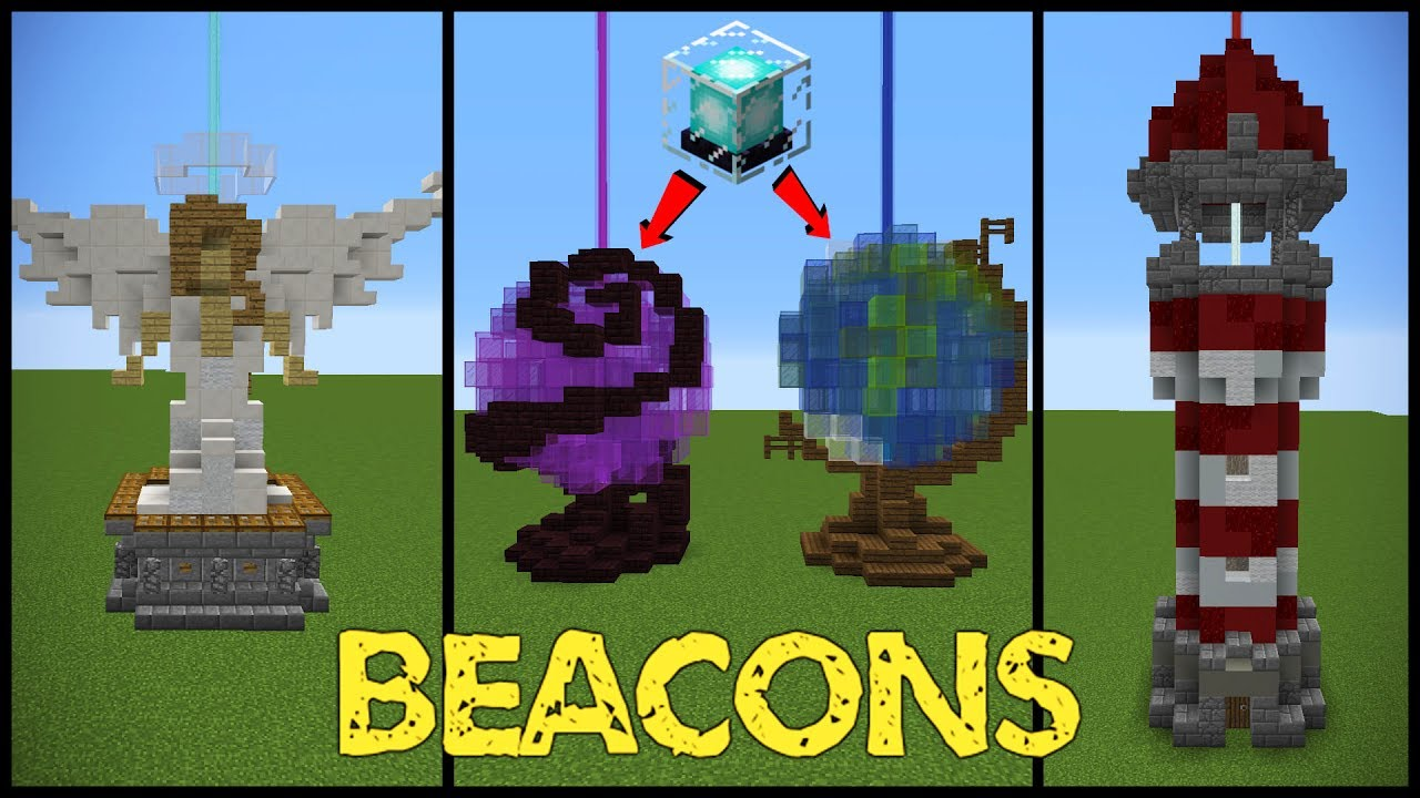 11 Minecraft Beacon Designs Youtube