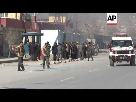 Gunbattle following blasts in Kabul