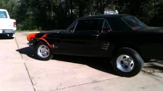 1966 mustang with side exhaust