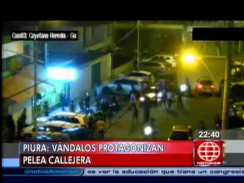 América Noticias: Cámara de seguridad registró una violenta pelea calleja en Piura