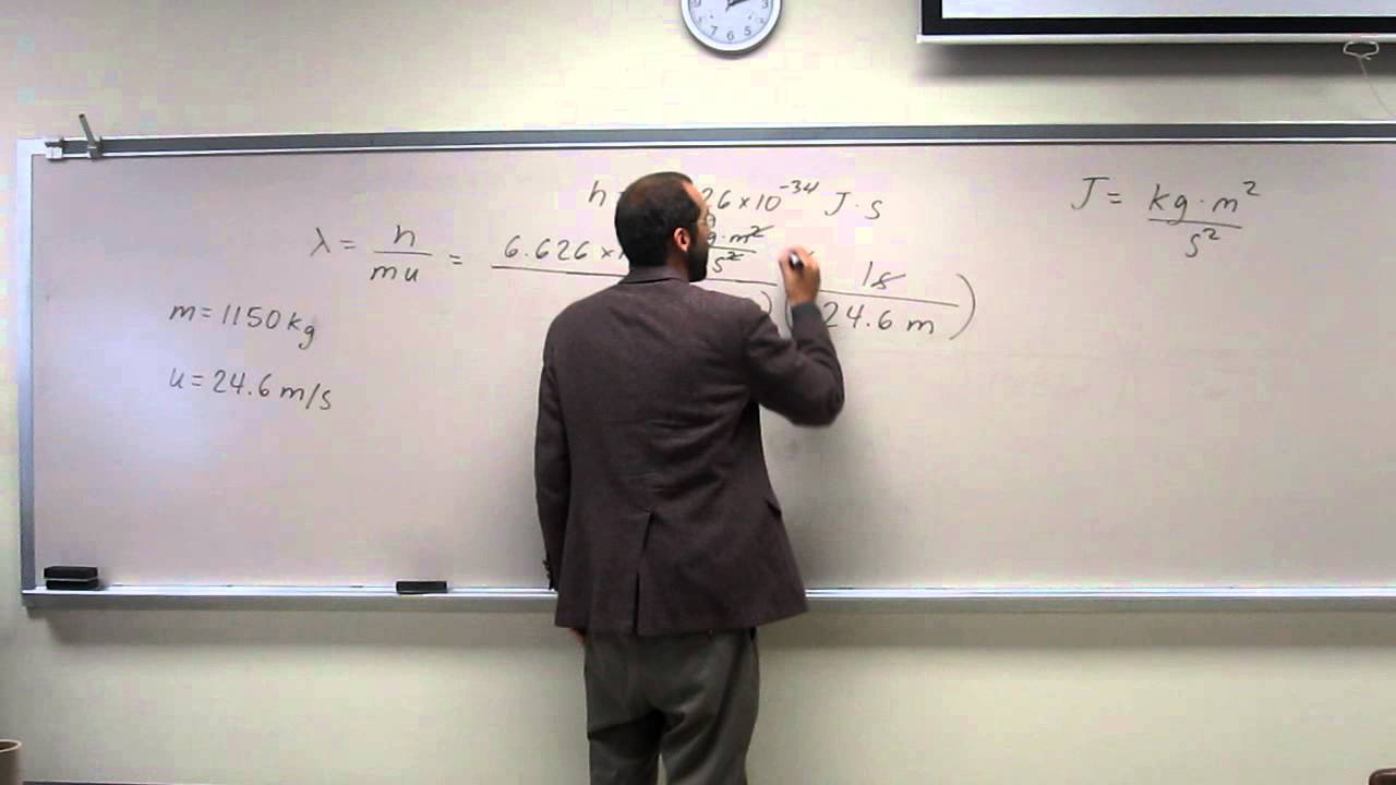 how to find wavelength with mass and velocity