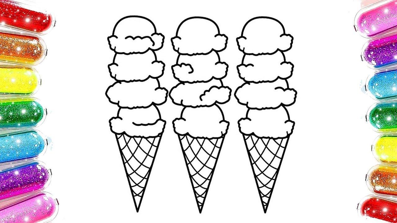 Learn Colors Ice Cream Dondurma Boyama Dondurma Nasil Cizilir