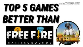 Top 5 Games Better then (pubg/freefire) must watch / Best 2018 online games/ BEST FPS GAME for Andro