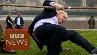 بالفيديو والصور.. عمدة لندن يسقط على الأرض خلال «شد الحبل»