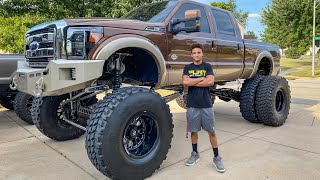 "20"" Lifted F350 Dually on 46's (Ignorantly Large)"