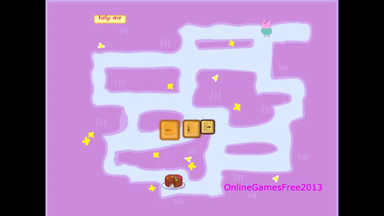 Peppa Pig Online Games Peppa Pig Maze Game YouTube