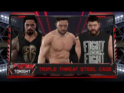 WWE MONDAY NIGHT RAW:FINN BALOR VS ROMAN REIGNS VS KEVIN OWENS