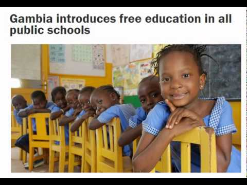 Gambia introduces free education in all public schools