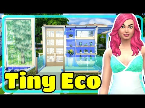 The Sims 4 Tiny Modern Eco House 5×5 Build Challenge