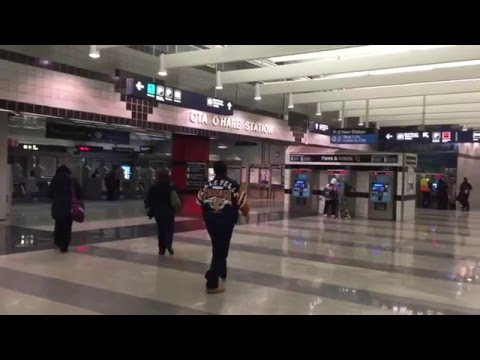 How to find the train station at O'Hare International Airport Chicago to downtown Chicago (1)