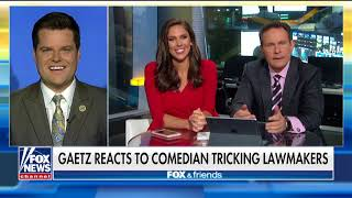 Rep. Gaetz Doesn't Fall for Sacha Baron Cohen's Tricks