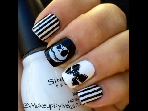 Diseño de Halloween / Jack Skellington Halloween Nails