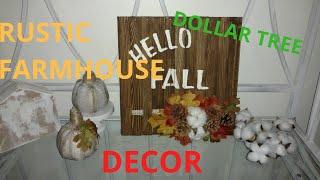 Diy rustic farmhouse fall decor/ diy fall decor/ diy easy fall decor