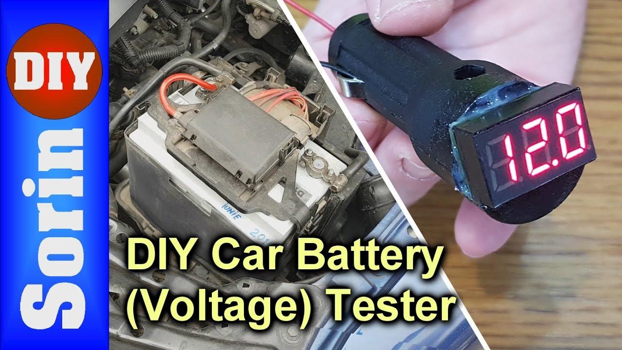 Diy Car Battery Voltage Tester 12v Socket Youtube
