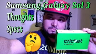 New Cricket Wireless Samsung Galaxy Sol 3 Review Of Specs First Thoughts + Moto g6 Forge