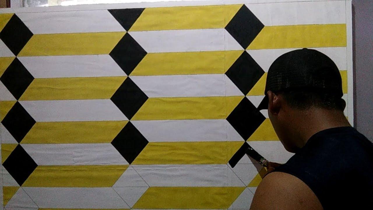 cat tembok 3d | cat tembok kreatif 3d | motif cat tembok ...