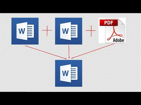 How To Combine Or Merge Word And PDF Documents Together