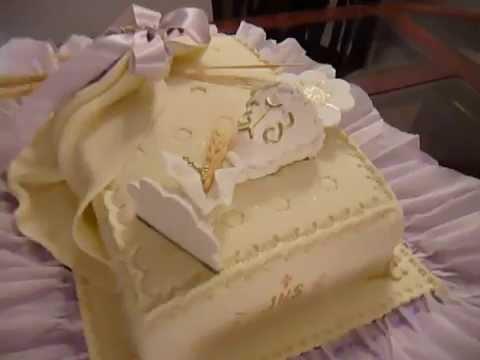 Franer bakes craft primera comuni n youtube - Como decorar un salon para comunion ...