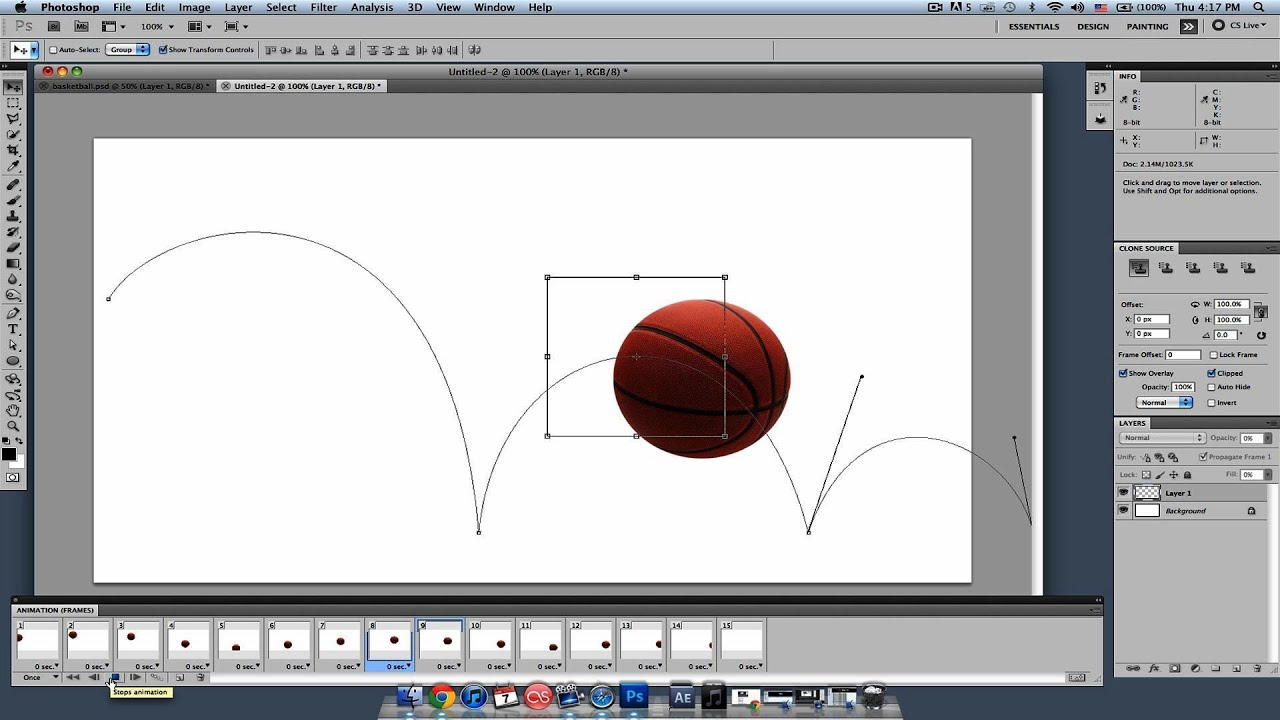 Create In-Between Frames for Animations   Photoshop Lessons - YouTube