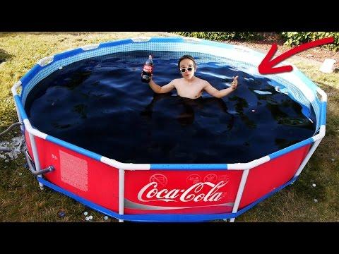 БАССЕЙН ИЗ 6000 ЛИТРОВ КОКА-КОЛА и МЕНТОС ! | Coca-cola Reaction