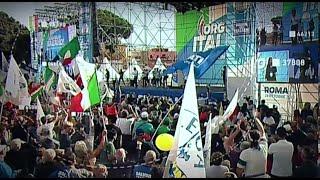 A baloldali kormány bevándorláspárti politikája ellen tüntettek Rómában