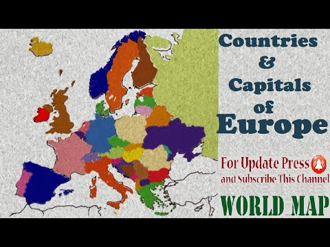 Countries And Capitals Of Europe Continent In Alphabetical Order (Learn Geography)