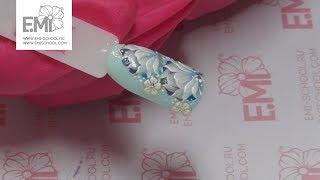 Дизайн ногтей с росписью Жостово